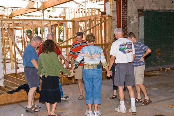 2007-09-23 Construction and Prayer Gathering