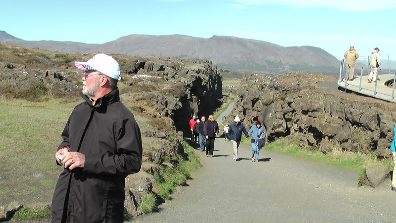 Thingvellir National Park, Iceland - Continental drift between the North American and Eurasian Plates can be clearly seen in the faults