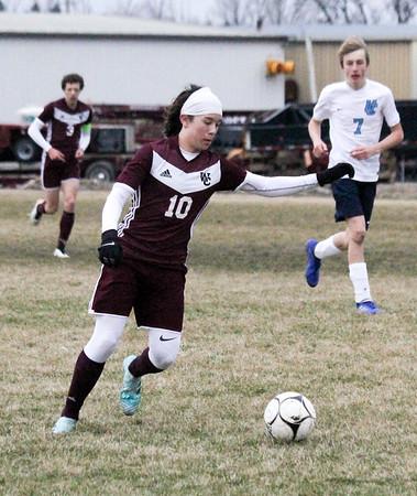 WC boys' soccer versus Unity Christian 4-9-19