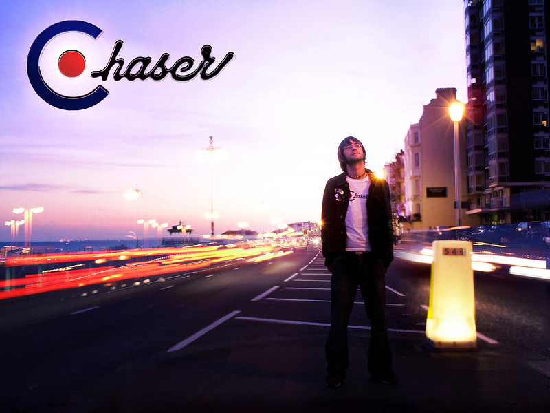 Poster from Chaser 'Fall At Your Feet' music video.  Photography & logo by Nick Sneath
