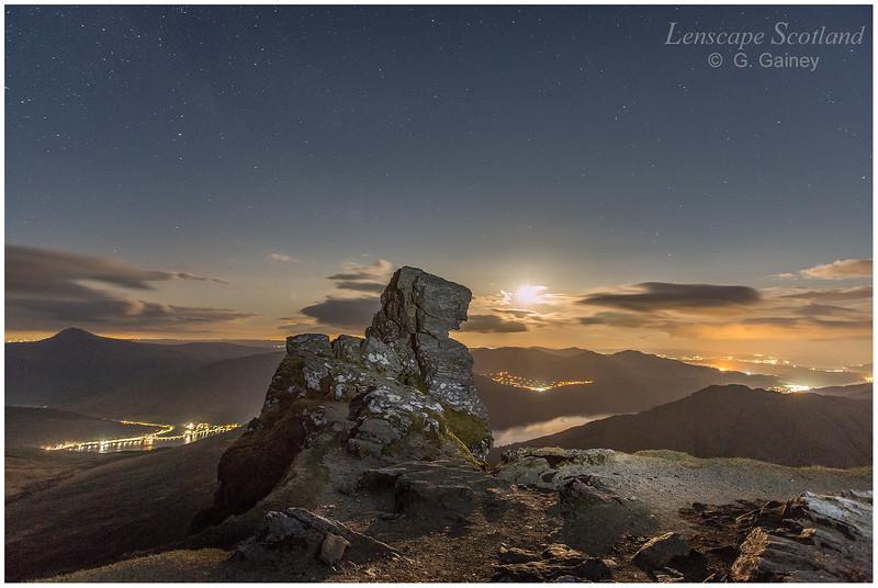 Moonrise from The Cobbler (Ben Arthur)