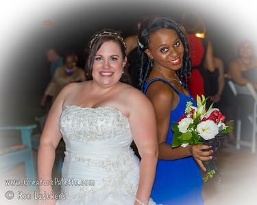 Heather & Khalfani Reception - Bouquet & Garter Toss