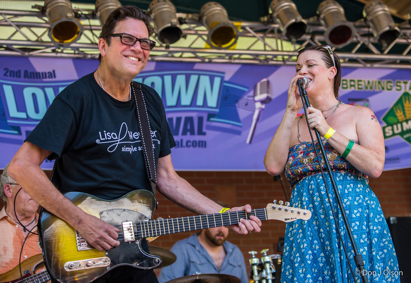 Billy Larson and Lisa--Lisa Wenger and her Mean Mean Men-Lowertown Blues Festival 2015-Mears Park-St. Paul MN