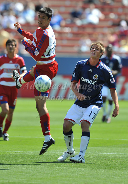29, March 2009:  FC Dallas defender Steve Purdy #25in action during the soccer game between FC Dallas & Chivas USA at the Pizza Hut Stadium in Frisco,TX. Chivas USA  beat FC Dallas 2-0.Manny Flores/Icon SMI
