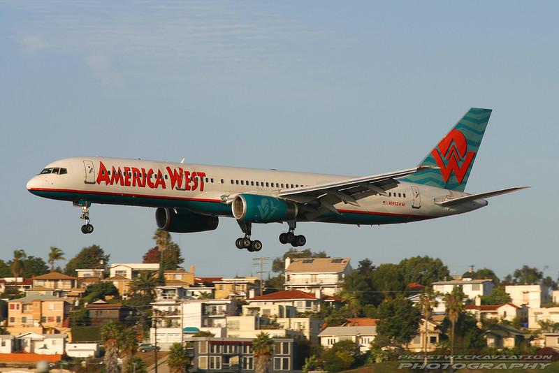 N913AW. Boeing 757-225. America West Airlines. San Diego. 250905.