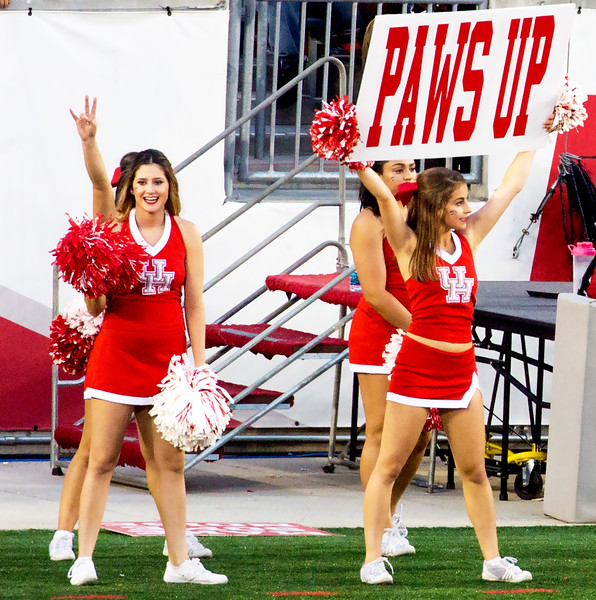 "Our cheerleaders tell us ""Paws Up""."