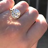 3.56ct Antique Cushion Cut Diamond 19