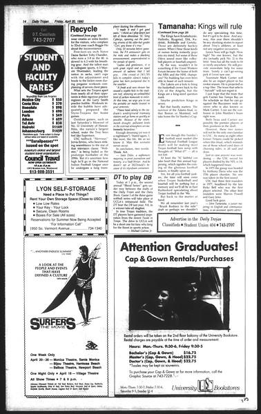 Daily Trojan, Vol. 111, No. 63, April 20, 1990