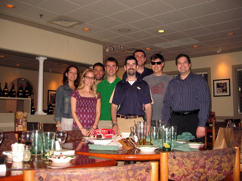 Olivia (l), Charlotte, John, Colin, David, Eric, Raf, and Craig