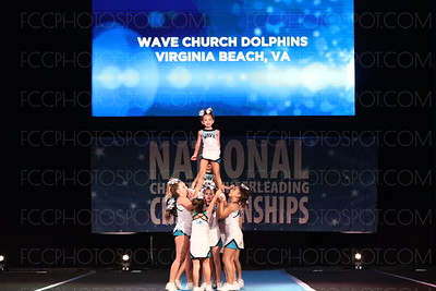 9. Wave Church Dolphins Virginia Beach VA Sapphire - Small Youth
