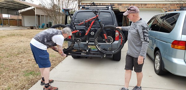 20190203 Mtn Bike Monte Sano Steve n Michael