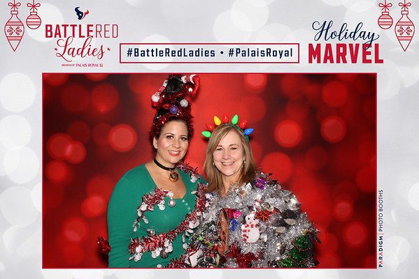 Battle Red Ladies Holiday Marvel - Prints