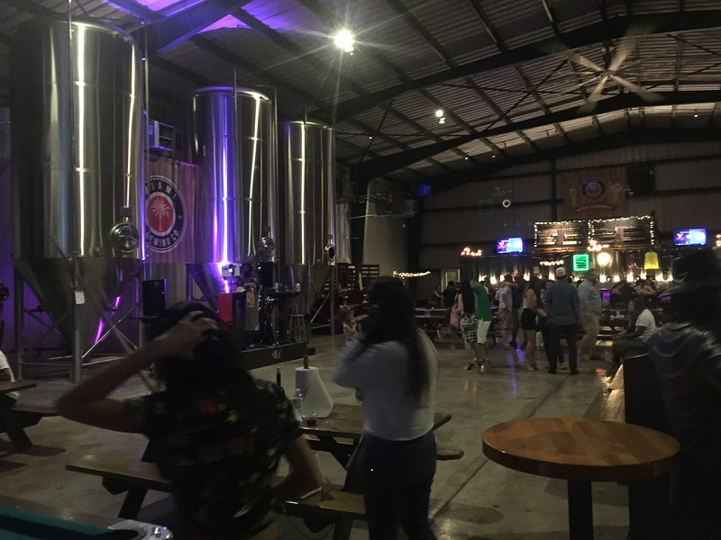 interior seating space at a brewery