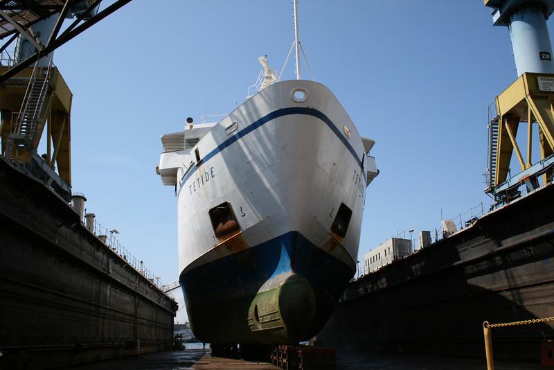 2009 - F/B TETIDE in dry dock in Napoli.