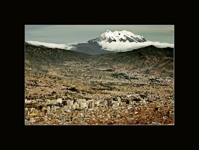 La Paz from a mirador (overlook)