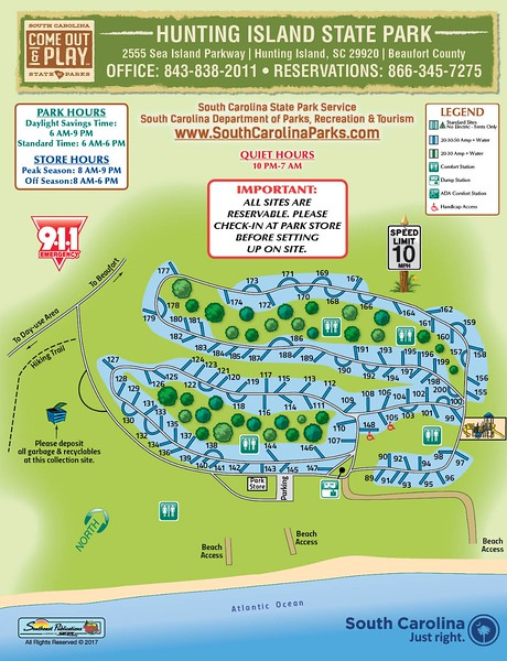 Hunting Island State Park (Campground Map)