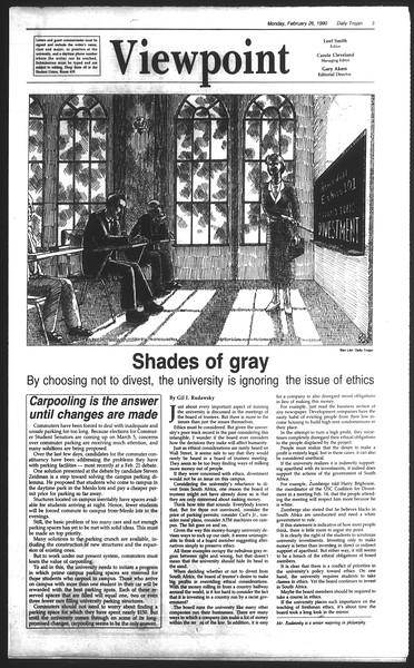 Daily Trojan, Vol. 111, No. 30, February 26, 1990