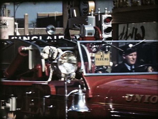 A frame captured from a 1948 film of a parade to celebrate Union's 140th birthday.