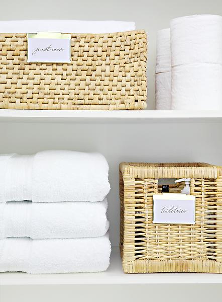Linen Closet Baskets