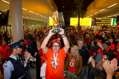 Ontvangst Oranje op Schiphol