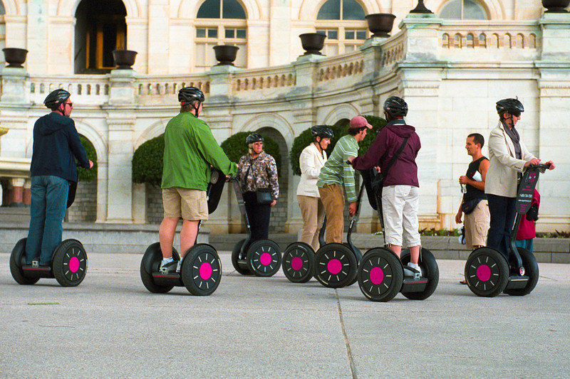 Segway Tours - Here I am walking around the city with my human legs like some kind of sucker.