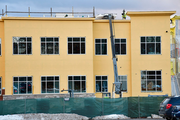 11/28/2018 MIke Orazzi   Staff Bristol Hospital's new Ambulatory Care Center being built on the corner of Riverside Avenue and Main Street.