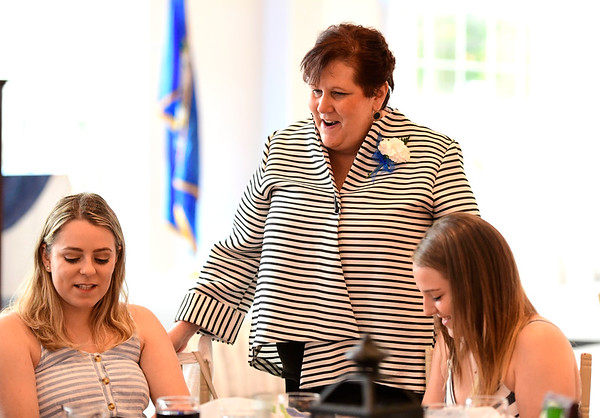 6/5/2019 Mike Orazzi | Staff Volunteer of the Year Wanita Parent during the 130th Annual Awards Dinner held at the Aqua Turf Club in Southington Wednesday evening.