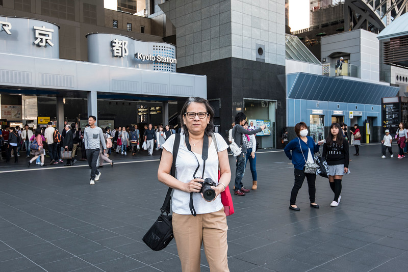 in front of the Kyoto Station