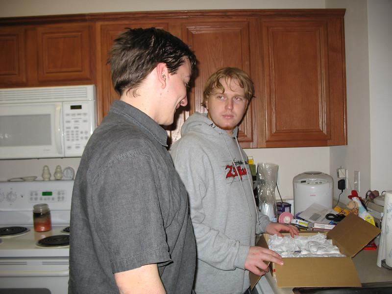 Dan and Bryan pick out shot glasses