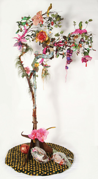 "Anastasia Winter Schipani ""Couture Tree"" Mixed media Height 8 feet"