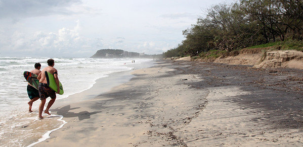 Gold Coast Beaches (Miami) Erosion Feb 24th 2013