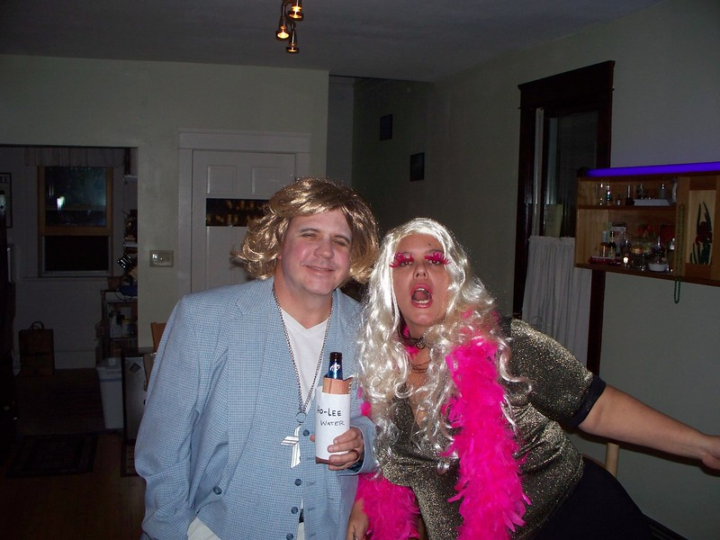 Televangelist Benny Hinn (Bill) and Las Vegas Hooker Alison (Angie) posing for the camera. Benny was anxious to get his ho-lee water bottle refilled.