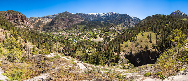Panorama taken above Ouray, CO
