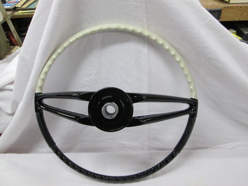 Back side of the rebuilt steering wheel.