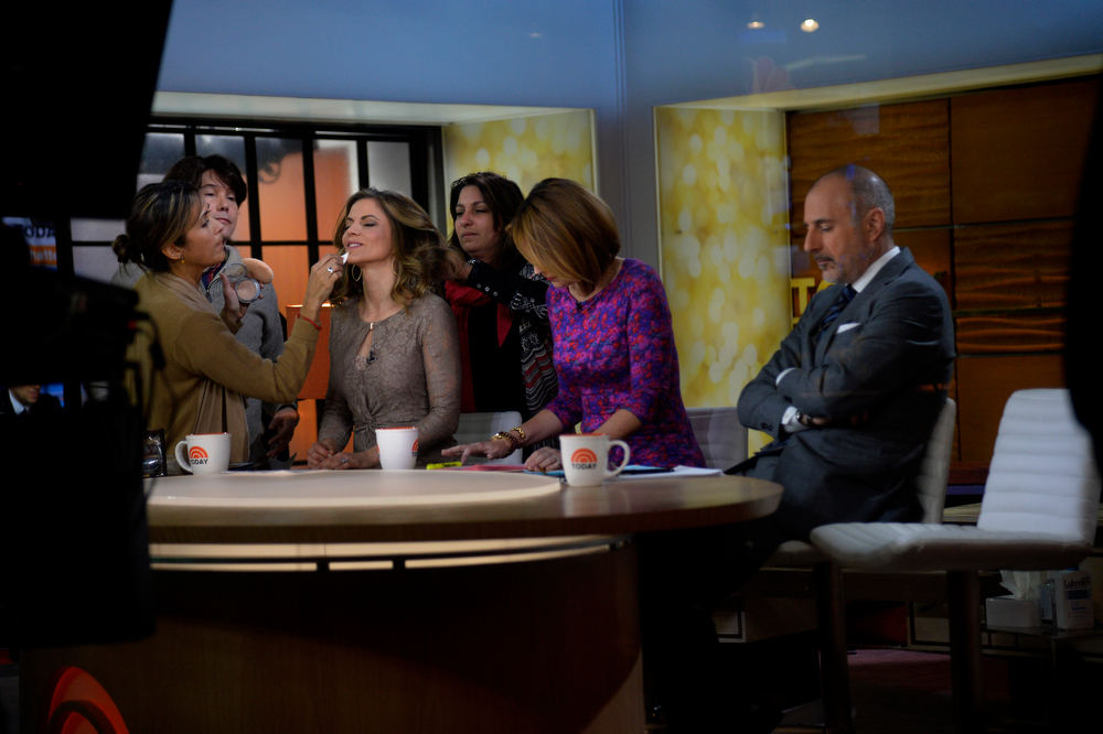 . Natalie Morales is made up before the start of the Today Show with Savannah Guthrie and Matt Lauer on January 31, 2014, New York, NY. (Photo By Joe Amon/The Denver Post)