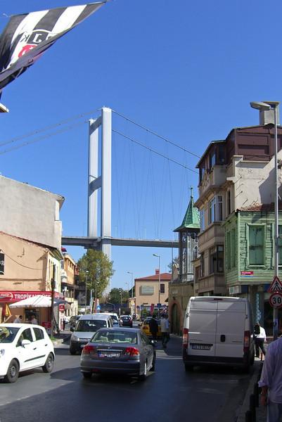 36-Ortaköy, Bosphorus Bridge, Greek Orthodox church.