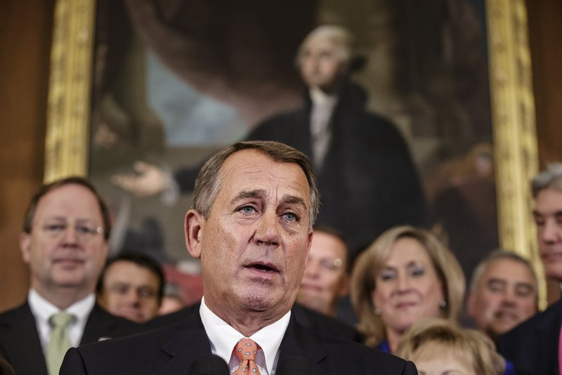 """. <p><b> Republican leaders, in a rare show of solidarity, amped up plans to defund � </b> <p> A. Obamacare  <p> B. Immigration reform  <p> C. Ted Cruz  <p><b><a href=\'http://www.foxnews.com/politics/2013/09/18/gop-goes-all-in-on-de-fund-obamacare-as-shutdown-looms/\' target=\""""_blank\"""">HUH?</a></b> <p>     (AP Photo/J. Scott Applewhite)"""