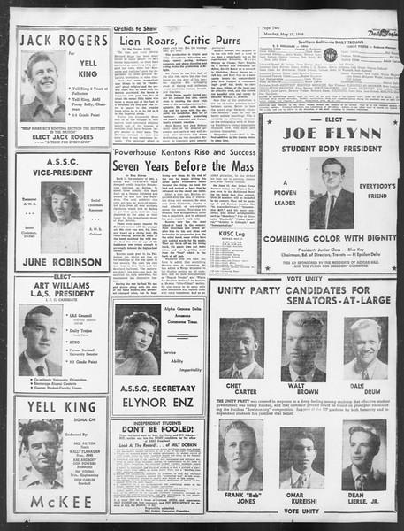 Daily Trojan, Vol. 39, No. 141, May 17, 1948