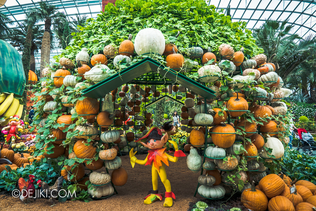 Gardens by the Bay - Autumn Harvest Floral Display - Pumpkin House