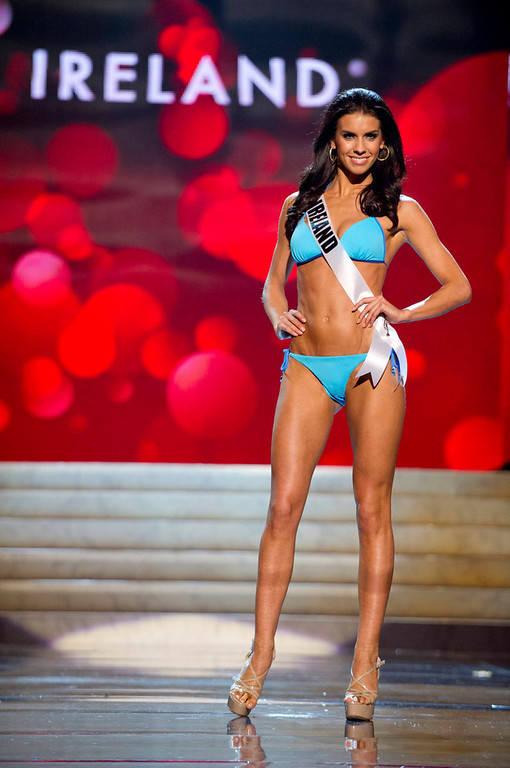 . Miss Ireland 2012 Adrienne Murphy competes during the Swimsuit Competition of the 2012 Miss Universe Presentation Show at PH Live in Las Vegas, Nevada December 13, 2012. The Miss Universe 2012 pageant will be held on December 19 at the Planet Hollywood Resort and Casino in Las Vegas. REUTERS/Darren Decker/Miss Universe Organization L.P/Handout