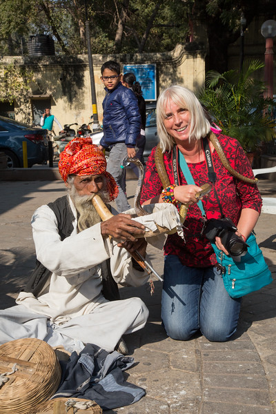 Nikole and the snake charmer - December, 2015
