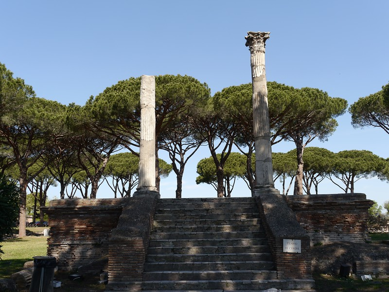 Temple of Ceres (harvest/fertility) in Ostia.