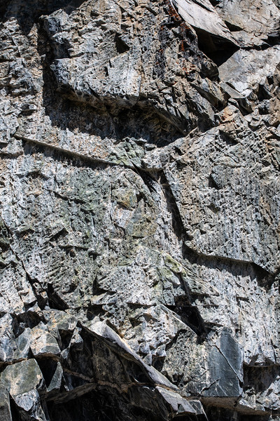 Rock Wall Near Long Lake, Abandoned Road For The Pine Creek Tungsten Mine and Mill, John Muir Wilderness, California