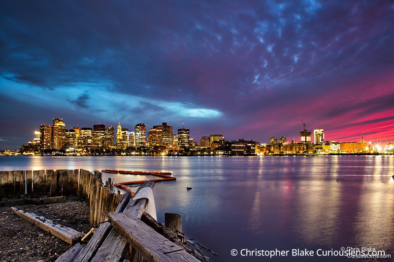 Boston Skyline and Dock