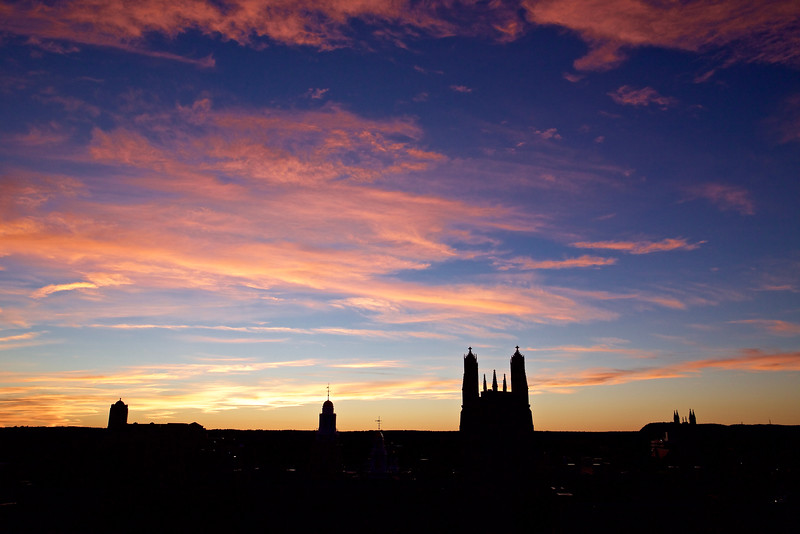 Towers of Yale University to West Rock, New Haven