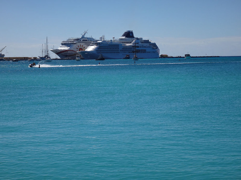 Meanwhile, out in the bay were all manner of ships, boats and watercraft
