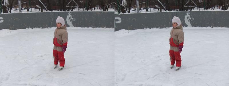 2011-01-15, Olya on a skating rink (3D LR)