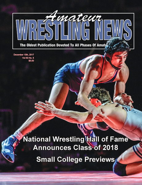 Amateur Wrestling News Cover, Dec, 2017