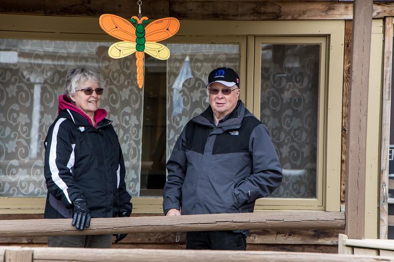 Karen & Gerald on the Jimmy Jock Boardwalk