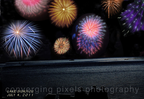 "Lake Siskiyou 4th of July.  ""fireworks.""  2011"